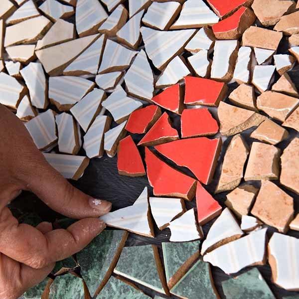 Укладка битой мозаики