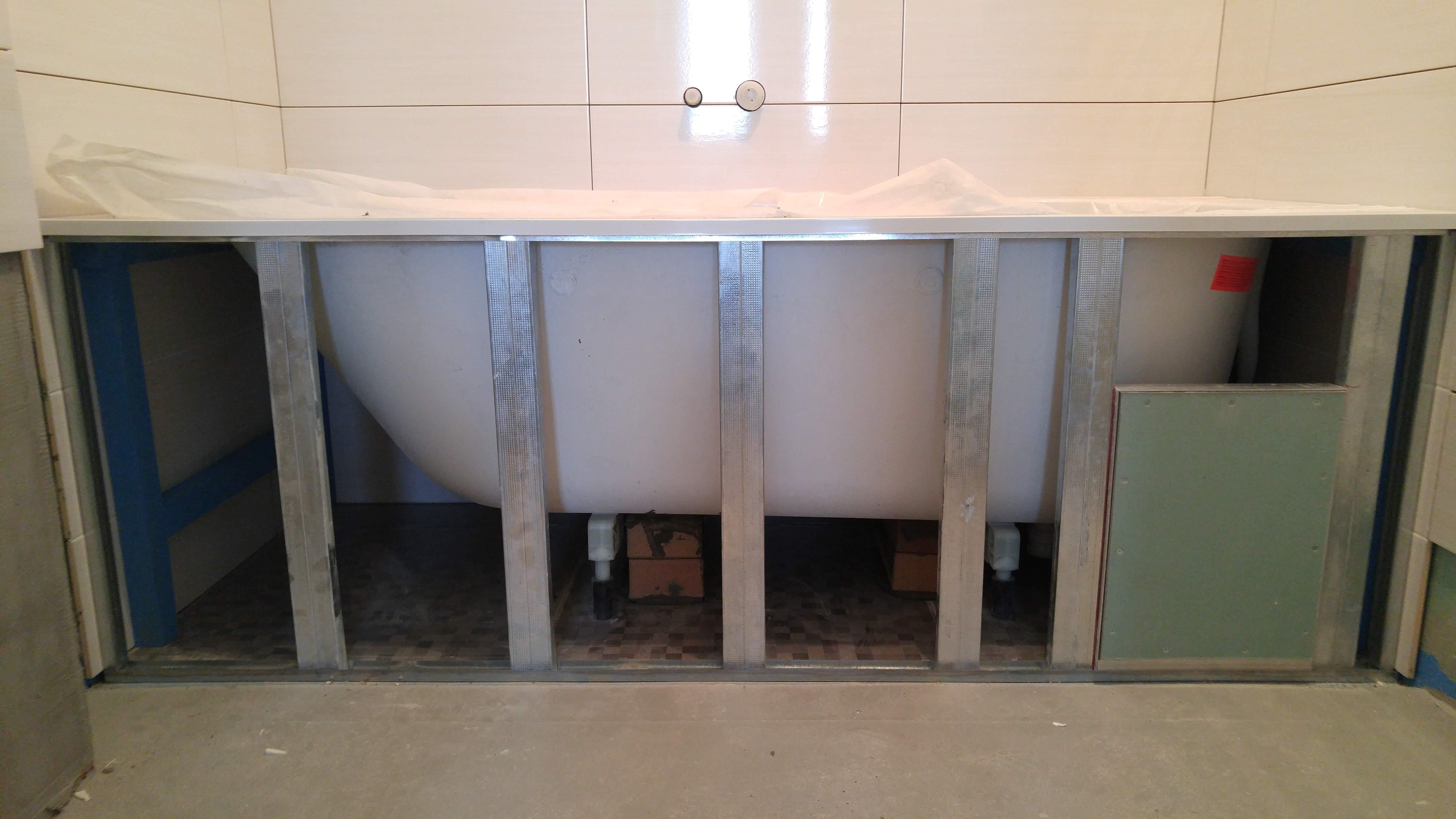 Фронтальная шторка под ванной